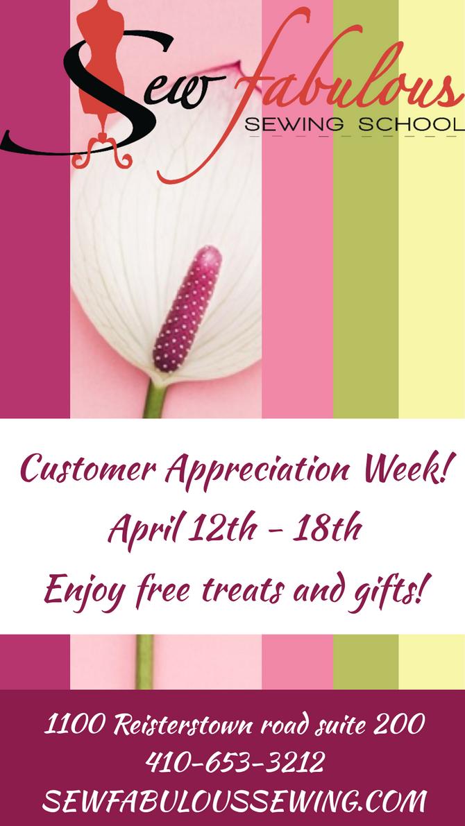Costumer Appreciation week! April 12-18th