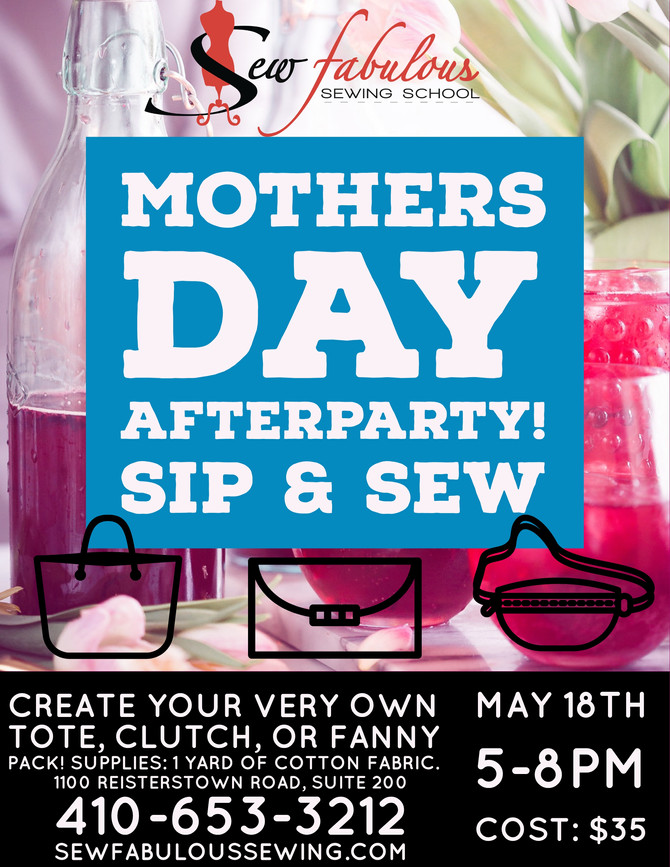 AFTER-PARTY! SIP & SEW!