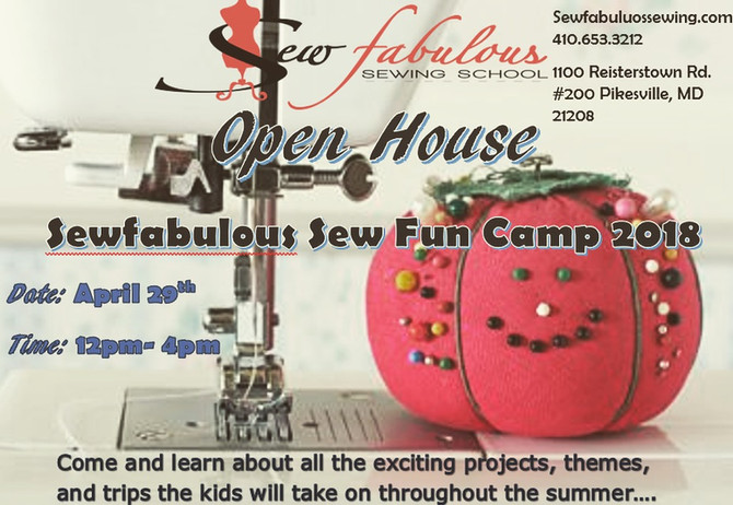Sew Fun Camp is having an Open House!
