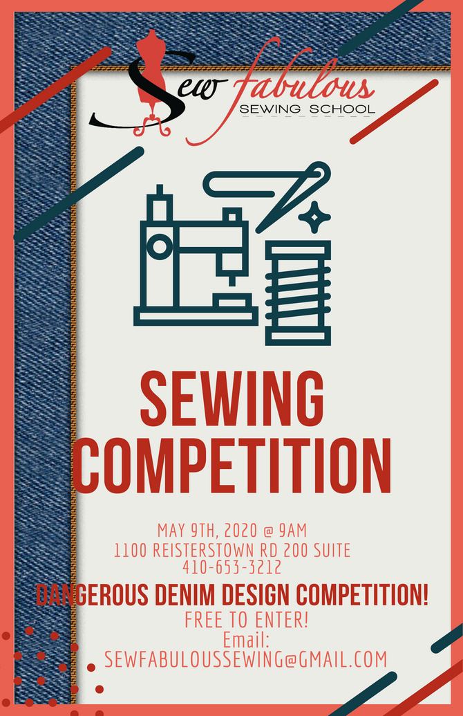 SEWING COMPETITION MAY 9TH!