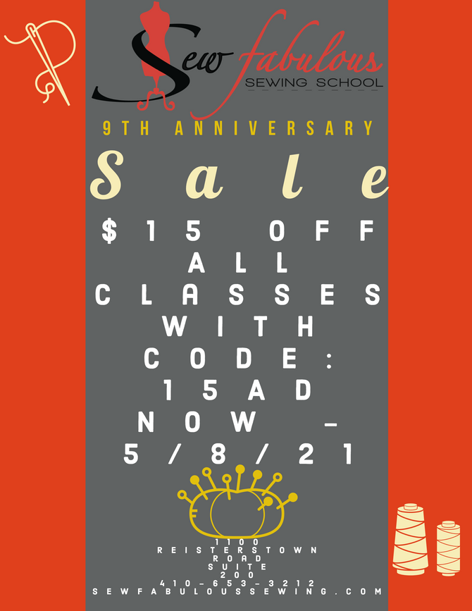 SALE $15 off all classes!