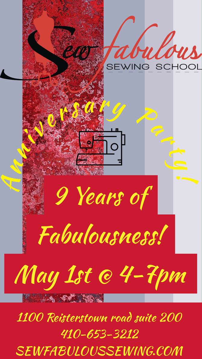 Anniversary Party! May 1st @ 4-7pm