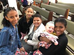 Elaina with church friends