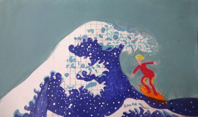 Surfer sur la vague