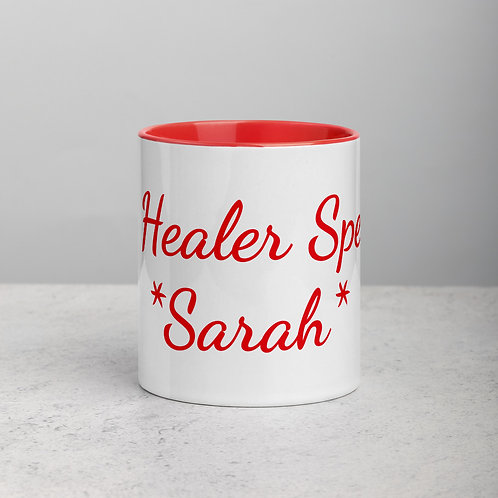 Personalized for Sarah 2 - Ceramic Mug with Red Handle/Inside