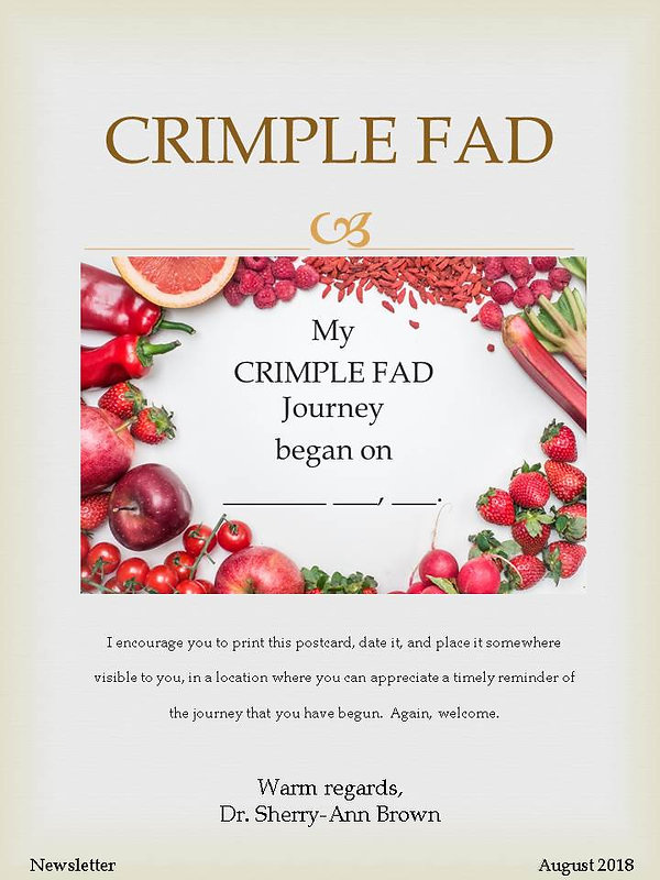 CRIMPLE FAD Newsletter Volume 1 - postca