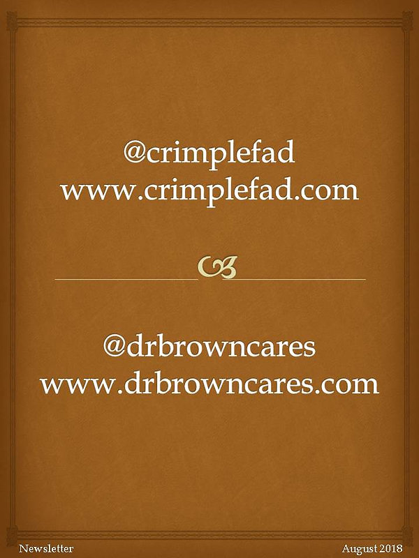CRIMPLE FAD Newsletter Volume 1 - social