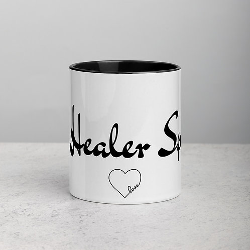With Heart - Ceramic Mug with Black Handle/Inside