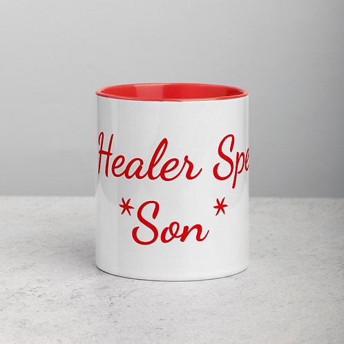 Personalized for Son 2 - Ceramic Mug with Red Handle/Inside