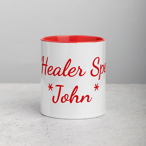Personalized for John 2 - Ceramic Mug with Red Handle/Inside