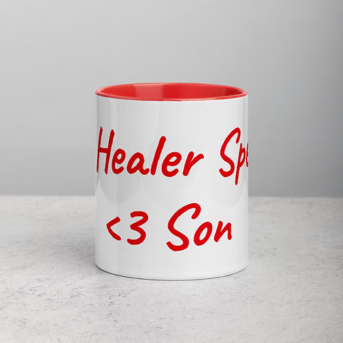 Personalized for Son - Ceramic Mug with Red Handle/Inside