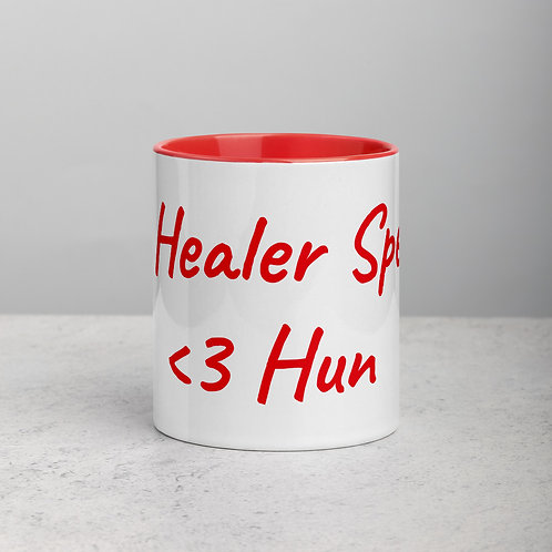 Personalized for Hun - Ceramic Mug with Red Handle/Inside