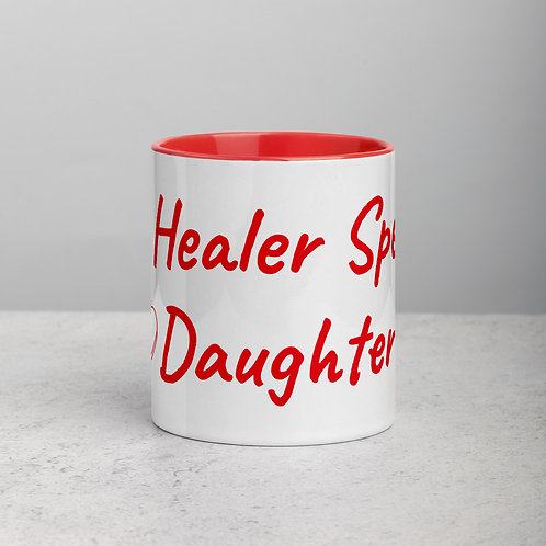 Personalized for Daughter with Heart - Ceramic Mug with Red Handle/Inside
