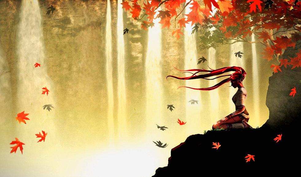 Wallpaper-autumn-meditation-anime-1920-x