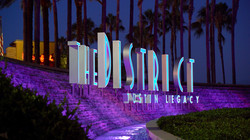 The sign for The District at Tustin shopping center