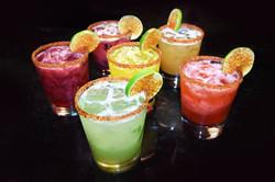 Fresh fruit flavored margaritas