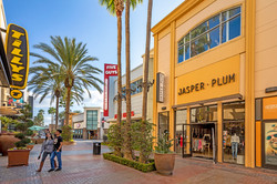The outdoor shopping center at The District at Tustin Legacy