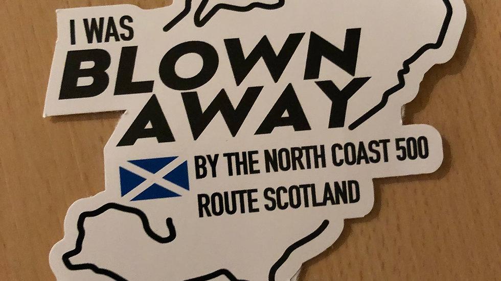 Blown Away Sticker (White or Black)