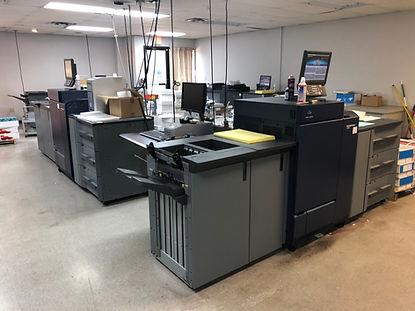 Digital printing production area