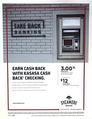 Sycamore Bank Earn Cash Back Flyer