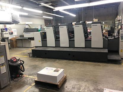 Four color 28 inch Komori Lithrone Press