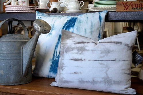 Shibori on Velveteen