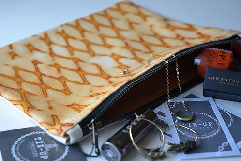 Rust Lattice Zip Pouch