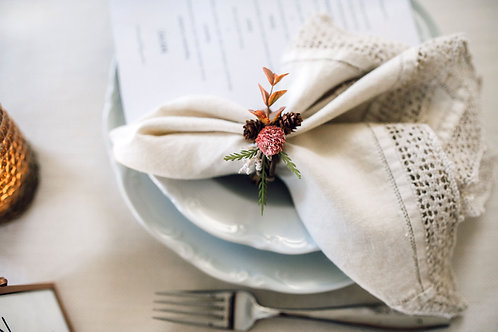 Table for Two  Napkin Rings