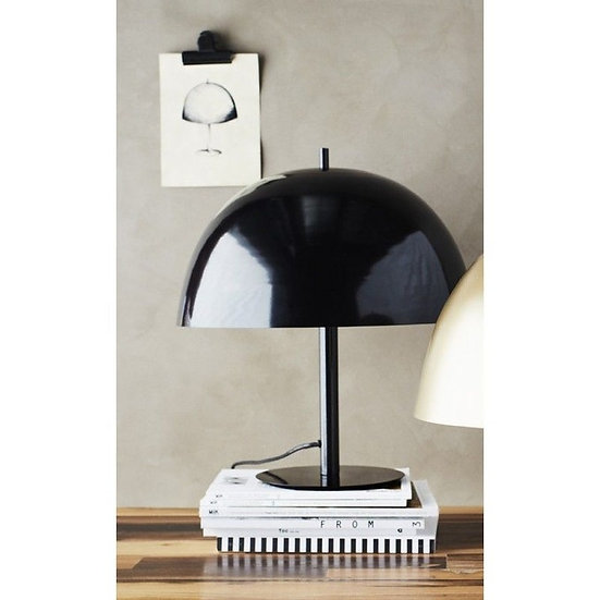 """Lampe """" champignon"""" noire"""