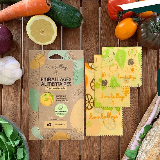 Wrap / emballage zéro déchet /FRUITS LEGUMES