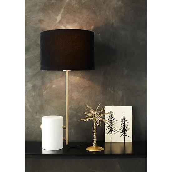 Lampe de table chic marbre blanc