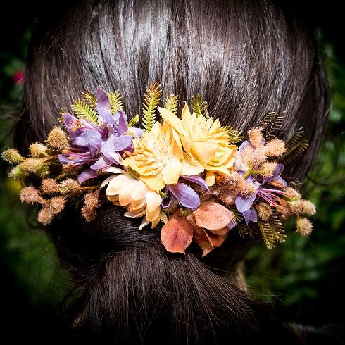 Artificial Flower Wedding HeadPiece-by F