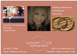 Celebrant Leeann Cook
