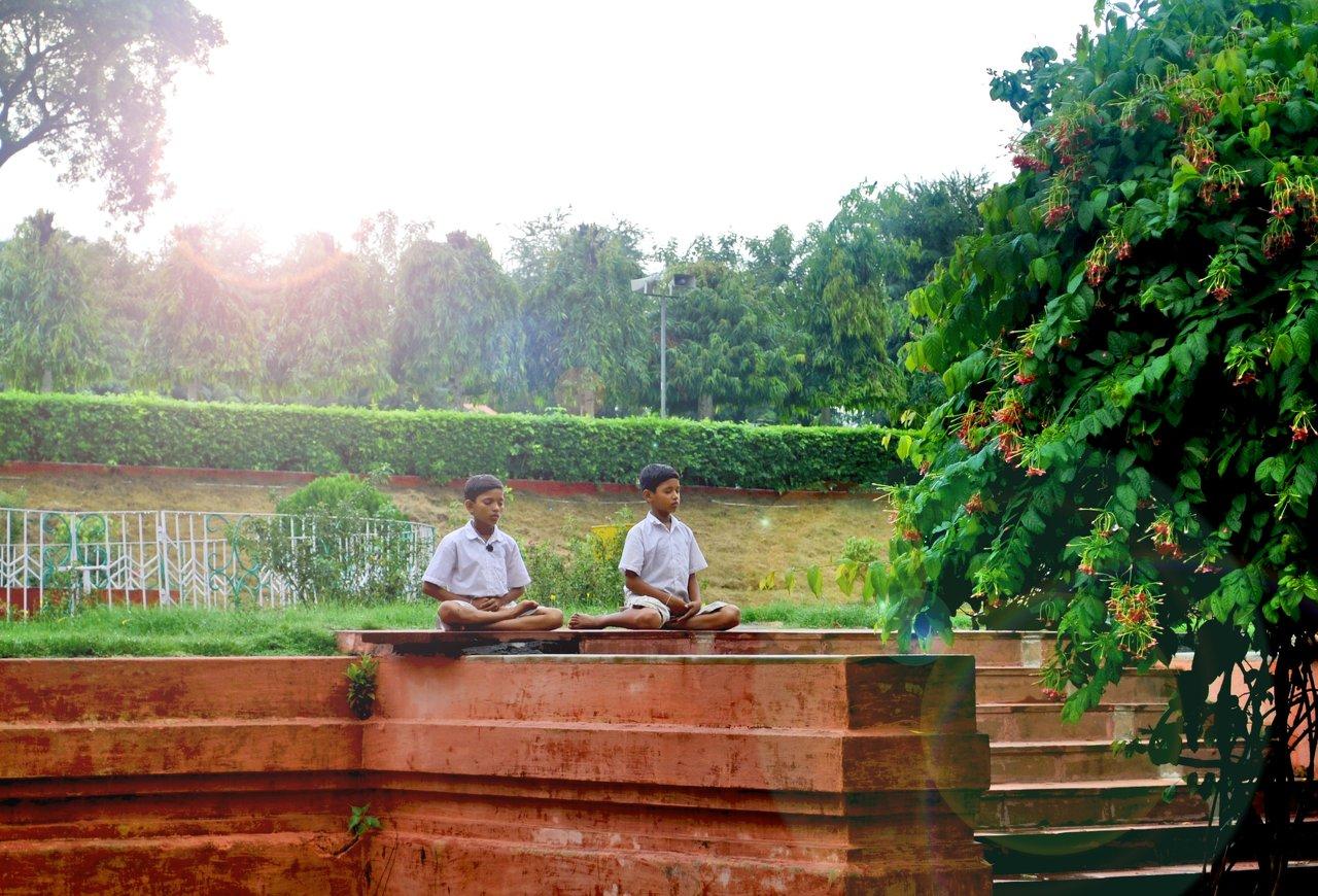 Children Meditation, Bodhgaya, India