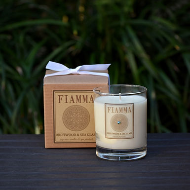 Driftwood & Sea Glass Soy Candle