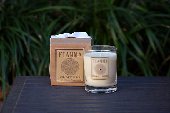 Midnight Amber Soy Candle