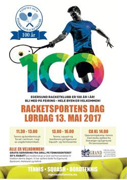 Tennisens dag og markering av 100 år