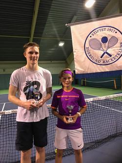 Finalister senior Dennis Ruhlow og Ola Helleren
