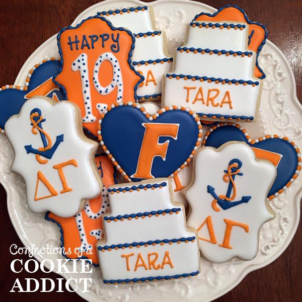 Florida Birthday Cookies