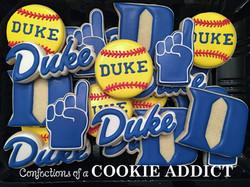 Duke Softball Cookies