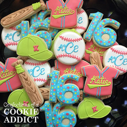 Baseball Birthday Cookies