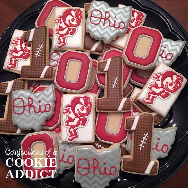 Ohio State Football Cookies