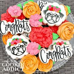 Pug Life Congrats Cookies