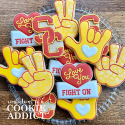 Love you fight on cookies