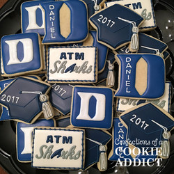 Duke Graduation Cookies