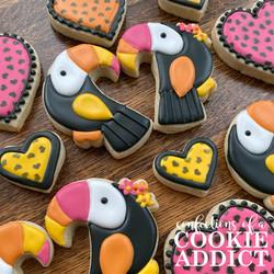 Toucan be my valentine cookies
