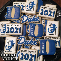 Duke Fencing Cookies