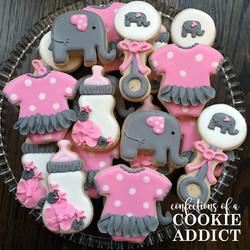 Elephant girl cookies