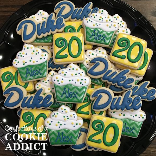 Duke 20th birthday cookies