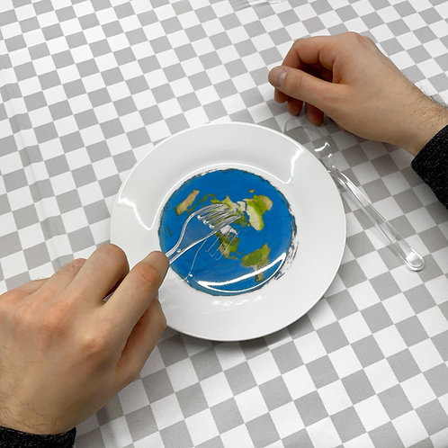 Тарелка-макет плоской Земли Филсофи